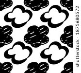 seamless drawn cloud pattern.... | Shutterstock .eps vector #1875680572