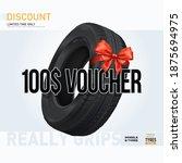 car tire sale banner. car tire...   Shutterstock .eps vector #1875694975
