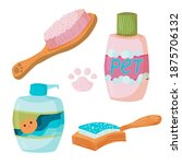 a set of four items for the... | Shutterstock .eps vector #1875706132