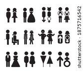 Man And Woman Icon Set   Symbol ...