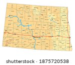 highly detailed north dakota... | Shutterstock .eps vector #1875720538