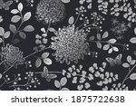 vintage seamless pattern.... | Shutterstock .eps vector #1875722638