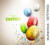modern easter greeting card...   Shutterstock .eps vector #187574432