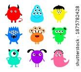 happy halloween. monster set....   Shutterstock .eps vector #1875782428