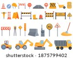 highway construction icons set. ...   Shutterstock .eps vector #1875799402