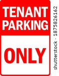 tenant parking only sign.... | Shutterstock .eps vector #1875826162