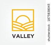 logo simple minimalist valley... | Shutterstock .eps vector #1875838045