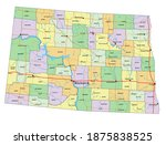 north dakota   highly detailed... | Shutterstock .eps vector #1875838525