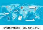 shipping  logistic supply chain ... | Shutterstock .eps vector #1875848542