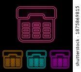 atm button color neon set....