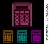 calculator color neon set....