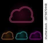 cloud color neon set. simple...