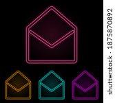 open envelope color neon set....