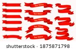 flat design red ribbon and... | Shutterstock .eps vector #1875871798