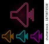 sound sign color neon set....