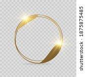 golden geometric frames.... | Shutterstock .eps vector #1875875485