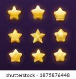 game ranking gold stars cartoon ...