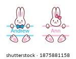 Easter Bunny. Boy And Girl....