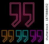 quotes color neon set. simple...