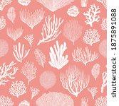 Corals And Algae Vector...