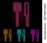 cutlery color neon set. simple...