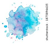 vector watercolor paint splash... | Shutterstock .eps vector #1875896635