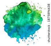 vector watercolor paint splash... | Shutterstock .eps vector #1875896638