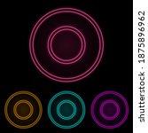 circular notation color neon...