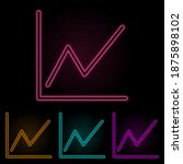 schedule color neon set. simple ...