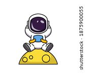 cute astronaut in the space... | Shutterstock .eps vector #1875900055