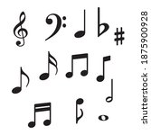 music notes icons. musical key...   Shutterstock .eps vector #1875900928