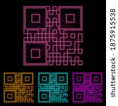 bar code color neon set. simple ...