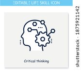 critical thinking line icon... | Shutterstock .eps vector #1875921142
