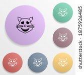 in love cat emoji badge color...