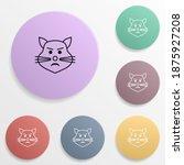 disgruntled cat emoji badge...