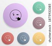 send a kiss emoji badge color...