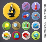 science and education  long... | Shutterstock .eps vector #187593398