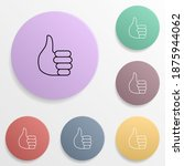 thumb emoji badge color set...