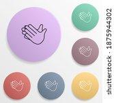 clap hands emoji badge color...