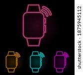 smart watch call color neon set....