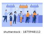 metro passengers scanning... | Shutterstock .eps vector #1875948112