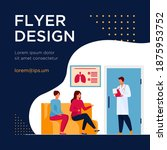 people sitting in hospital... | Shutterstock .eps vector #1875953752