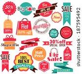 illustration of different sale... | Shutterstock .eps vector #187595492