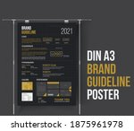 din a3 brand guideline poster... | Shutterstock .eps vector #1875961978