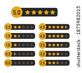 black and yellow star rating...   Shutterstock .eps vector #1875982015