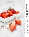Juicy Fresh Strawberries In A...