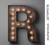Letter R For Sign With Light...