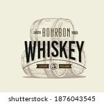 barrels of alcohol with text in ...   Shutterstock .eps vector #1876043545