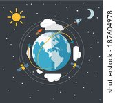 flat design illustration of the ... | Shutterstock .eps vector #187604978