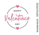 happy valentines day badge logo ... | Shutterstock .eps vector #1876119232
